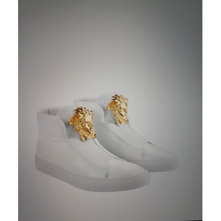 BASKETS  EN CUIR GIANNI VERSACE